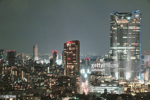 roppongi from tokyo tower - roppongi hills stock pictures, royalty-free photos & images