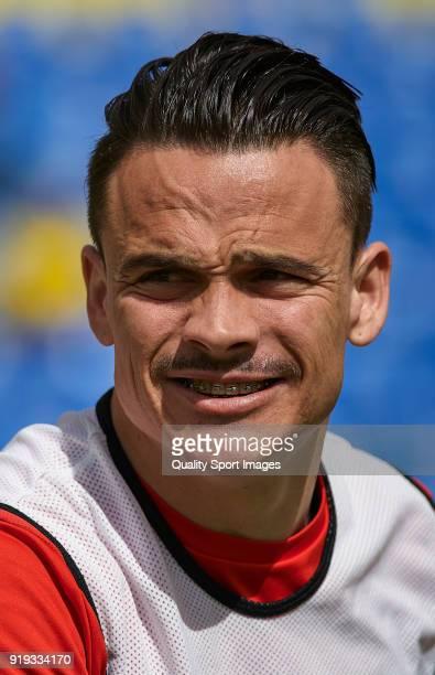 Roque Mesa of Sevilla looks on prior to the La Liga match between Las Palmas and Sevilla at Estadio Gran Canaria on February 17 2018 in Las Palmas...