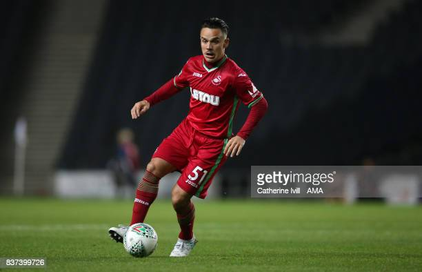 Roque Mesa of Swansea City during the Carabao Cup Second Round match between Milton Keynes Dons and Swansea City at StadiumMK on August 22 2017 in...