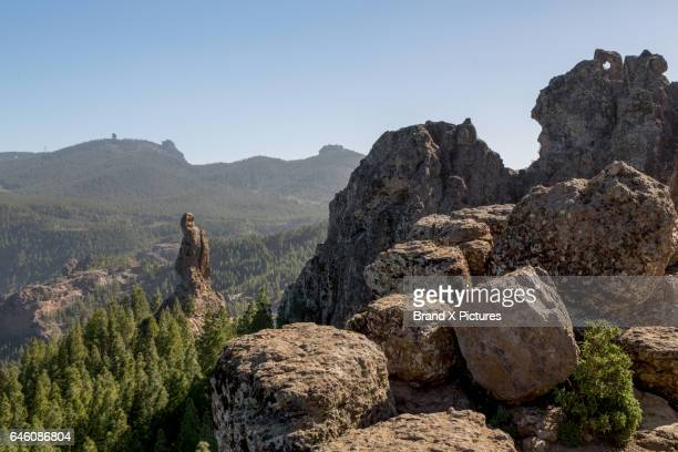 roque nublo in the centre of gran canaria - tejeda canary islands stock pictures, royalty-free photos & images
