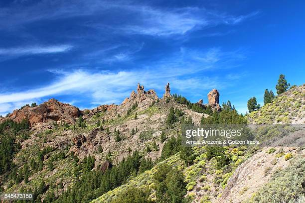 roque nublo natural monument in grand canary island - tejeda canary islands stock pictures, royalty-free photos & images