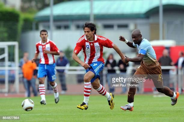 Roque SANTA CRUZ Didier ZOKORA Paraguay / Cote d Ivoire Match Amical Preparation Coupe du Monde Evian