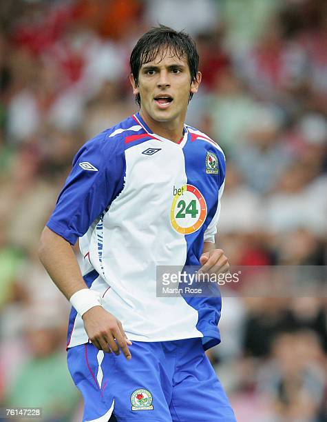 Roque Santa Cruz of Balckburn poses during the UEFA Cup 2nd qualifying round first leg match between My Pa and Blackburn Rovers at the Jalkapallo...
