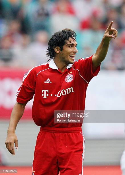 Roque Santa Cruz of Bayern Munich during the Liga Cup Final between Bayern Munich and Werder Bremen at the Zentral Stadium on August 5, 2006 in...