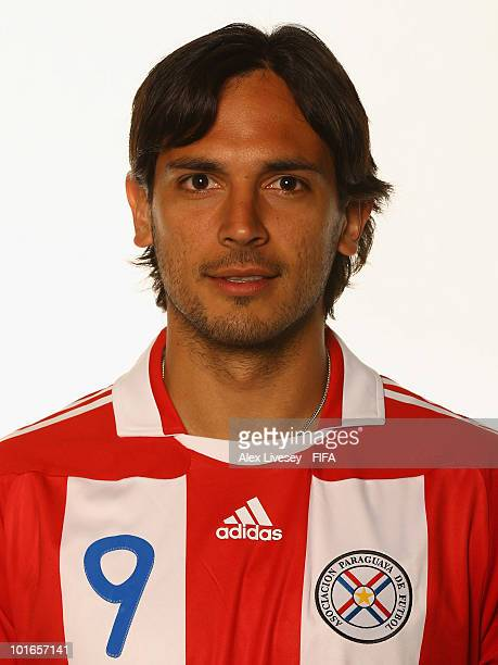 Roque Santa Cruz of Paraguay poses during the official FIFA World Cup 2010 portrait session on June 5 2010 in Durban South Africa