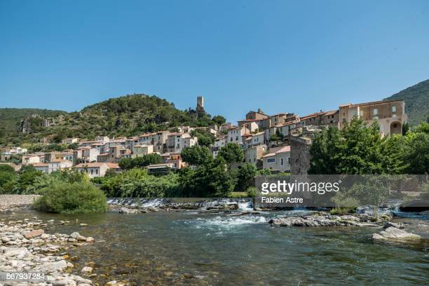 roquebrun - herault stock pictures, royalty-free photos & images