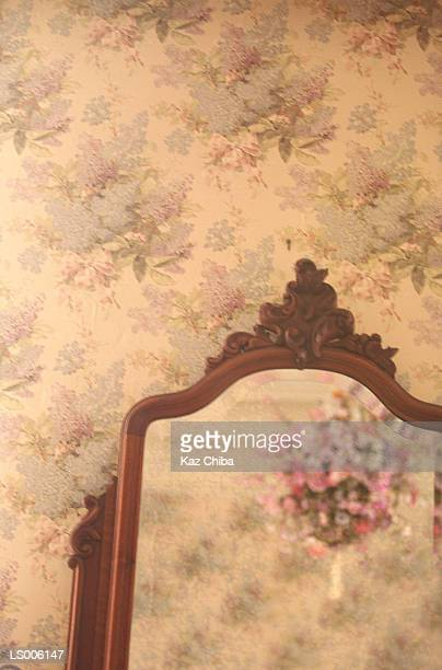Roquemaure,France - Wallpaper and mirror