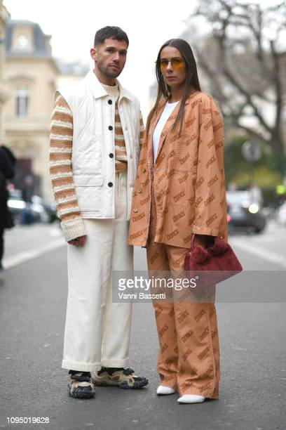 c45b1eac896b JS Roques and Alice Barbier attend the Acne Studio Menswear Fall Winter  20192020 show as
