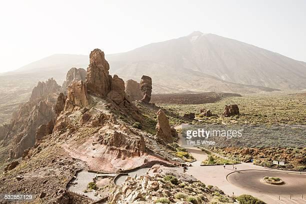 roques de garcia, tenerife, spain - el teide national park stock pictures, royalty-free photos & images