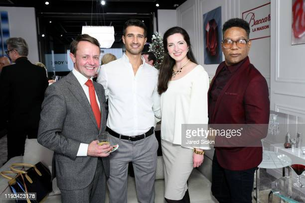 Roric Tobin Franco Rivera Julia Foster and Rio Hamilton attend Roric Tobin's Holiday Dining Room For Luxury Living at Luxury Living Showroom on...