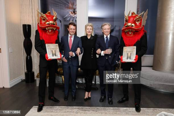 """Roric Tobin, Helena Lehane and Geoffrey Bradfield during the book launch for """"A 21st Century Palace Asia"""" by Geoffrey Bradfield and Landry Design..."""
