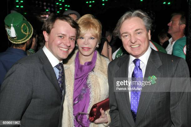 Roric Tobin Monique Van Vooren and Geoffrey Bradfield attend PATRICK MCMULLAN's Annual St Patrick's Day Party at Greenhouse on March 17 2009 in New...