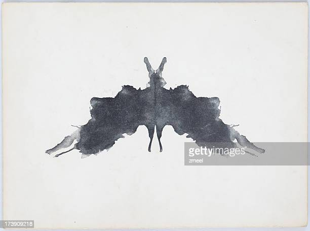 rorschach ink blot - pareidolia stock pictures, royalty-free photos & images