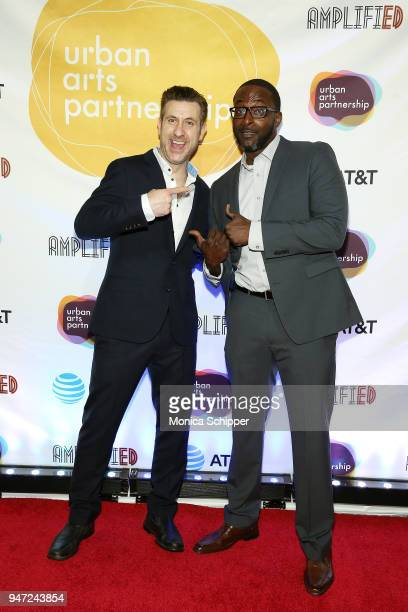 Rory Albanese and Mike Yard attend the Urban Arts Partnership's AmplifiED Gala at The Ziegfeld Ballroom on April 16 2018 in New York City