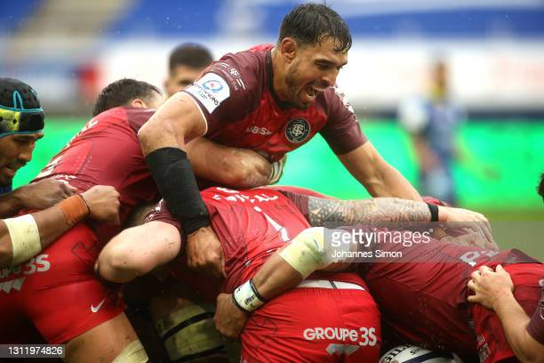 Rory Arnold of Toulouse during the Quarter Final Champions Cup match between Clermont and Toulouse at Parc des Sports Marcel Michelin on April 11,...