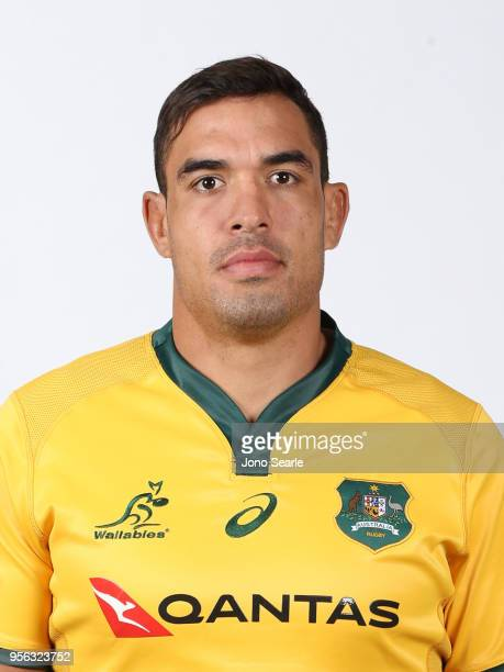 Rory Arnold poses during the Australian Wallabies headshot session on May 7 2018 in Gold Coast Australia