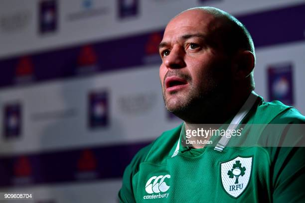 Rory Best of Ireland speaks during the 6 Nations Launch event at the Hitlon on January 24 2018 in London England