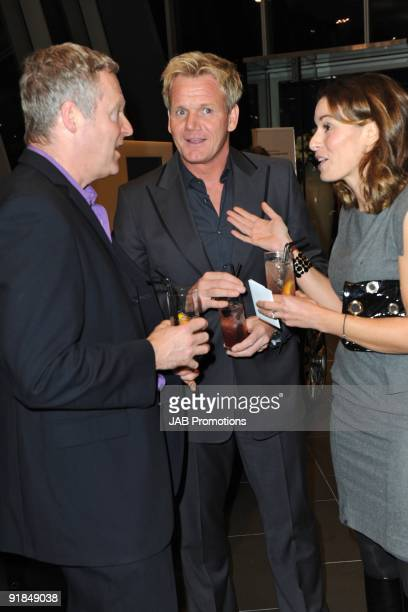 Rory Bremner and Gordon Ramsay and Tana Ramsay attends the opening of the new Audi Showroom on October 12 2009 in London England