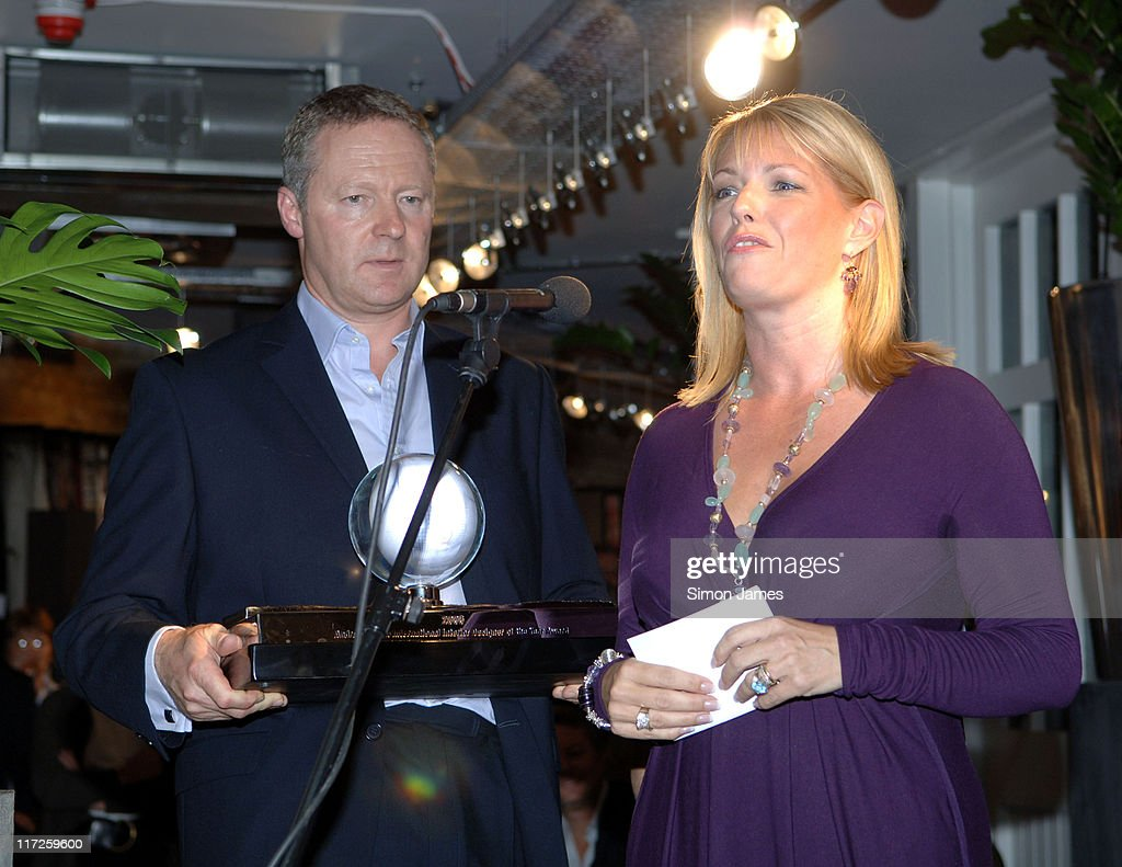 Rory Bremner presenting the Andrew Martin Award for Interior Design to Gail  Taylor and Karen Howes