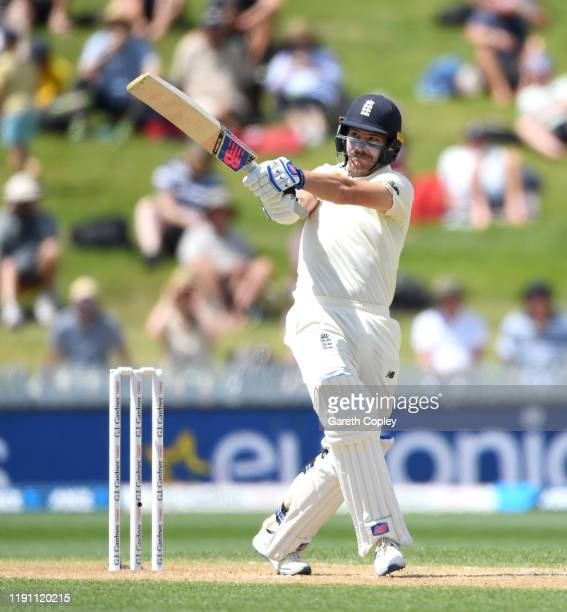 Rory Burns of England bats during day 3 of the second Test match between New Zealand and England at Seddon Park on December 01, 2019 in Hamilton, New...
