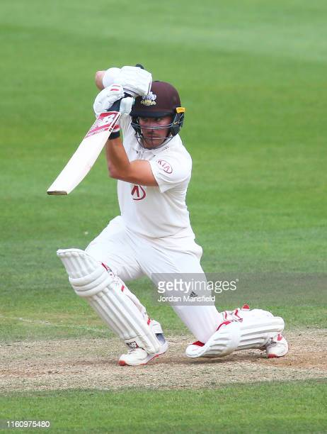 Rory Burns of Surrey bats during day three the Specsavers County Championship Division 1 match between Surrey and Kent at The Kia Oval on July 09,...