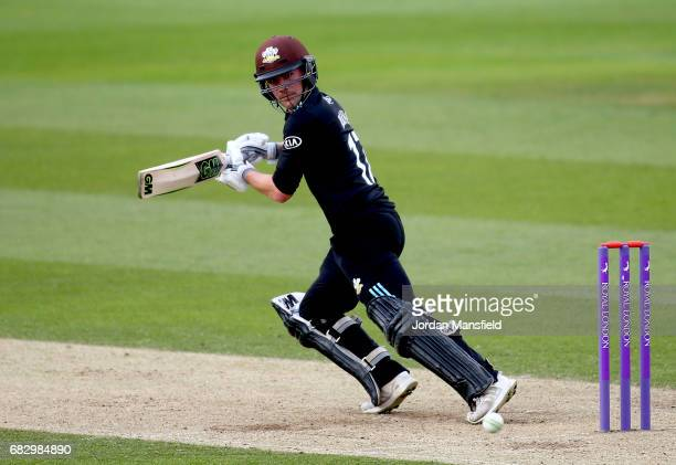 Rory Burns of Surrey bats during the Royal London OneDay Cup match between Surrey and Hampshire at The Kia Oval on May 14 2017 in London England