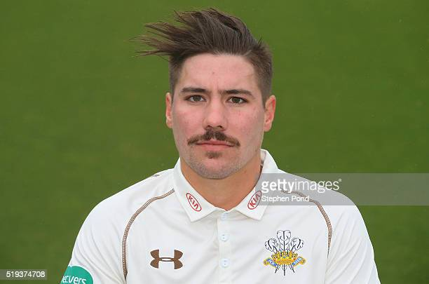 Rory Burns of Surrey during the Surrey County Cricket Club media day at The Kia Oval on April 6 2016 in London England