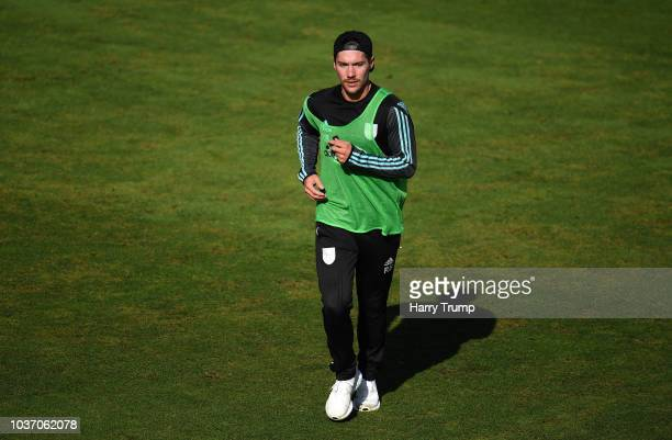 Rory Burns of Surrey looks on during Day Four of the Specsavers County Championship Division One match between Somerset and Surrey at The Cooper...
