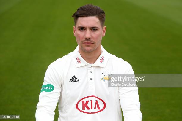 Rory Burns poses in the during the Surrey CCC Photocall at The Kia Oval on April 4 2017 in London England