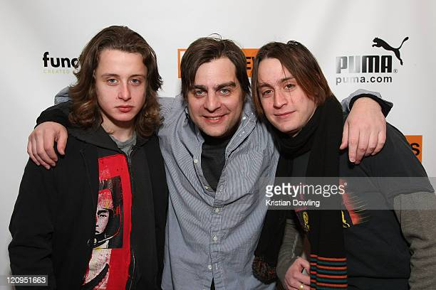 Rory Culkin director Derick Martini and Kieran Culkin visits the LIVEstyle Film Lounge Media Center on January 17 2009 in Park City Utah