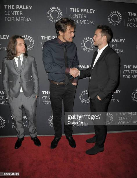 Rory Culkin Michael Shannon and Taylor Kitsch attend 'Waco' world premiere screening at The Paley Center for Media on January 24 2018 in New York City