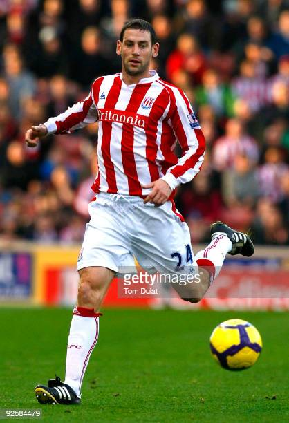 Rory Delap of Stoke City runs with the ball during the Barclays Premier League match between Stoke City and Wolverhampton Wanderers at the Britannia...