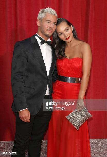 Rory DouglasSpeed and Nadine Mulkerrin attends the British Soap Awards 2018 at Hackney Empire on June 2 2018 in London England