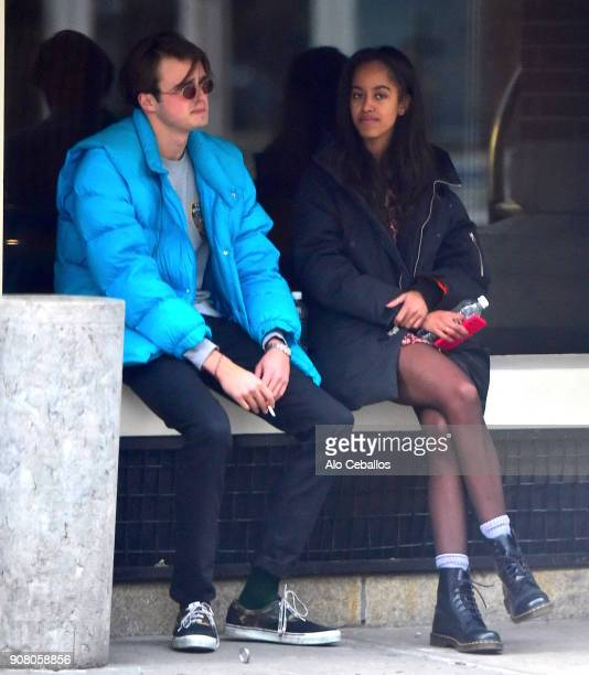 Rory FarquharsonMalia Obama are seen on January 20 2018 in New York City