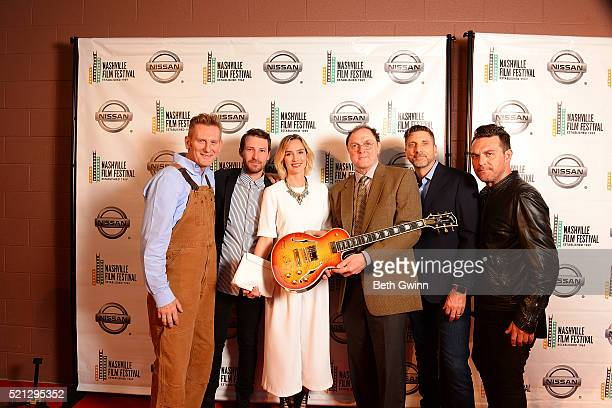 Rory Feek Bryan Allen Sara Antonio Aaron Carnahan Linds Edwards and Jesse James Locorriere of the film Josphine attends the 2016 Nashville Film...