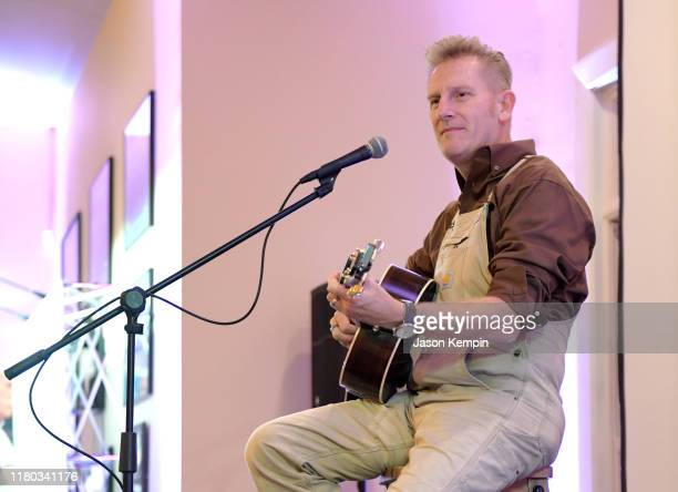 Rory Feek performs during a fundraiser for Heartlight Ministries and Parenting Today's Teen Radio at Shinn's Shinndig Ranch on October 10, 2019 in...