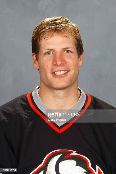 Rory Fitzpatrick of the Buffalo Sabres poses for a portrait at HSBC Arena on September 122005 in BuffaloNew York