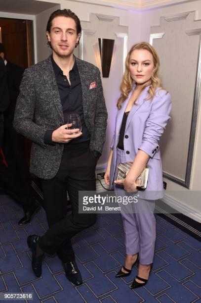 Rory Fleck Byrne and Ciara Charteris attend the Niquesa PreBAFTA dinner at Claridge's Hotel on January 16 2018 in London England