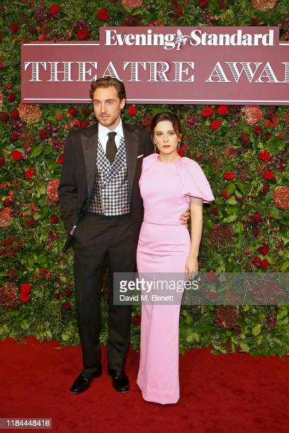 Rory Fleck Byrne and Phoebe Fox attend 65th Evening Standard theatre Awards in association with Michael Kors at the London Coliseum on November 24...