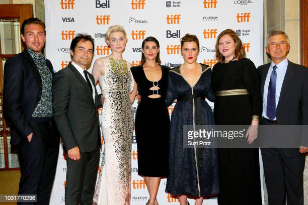 Rory Fleck Byrne Evangelo Kioussis Elizabeth Debicki Gemma Arterton Chanya Button Katie Holly and guest attend the 'Vita Virginia' premiere during...
