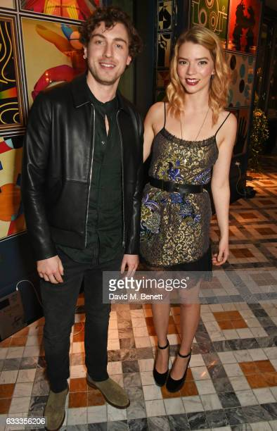 Rory FleckByrne and Anya TaylorJoy attend the InStyle EE Rising Star Party ahead of the EE BAFTA Awards at The Ivy Soho Brasserie on February 1 2017...