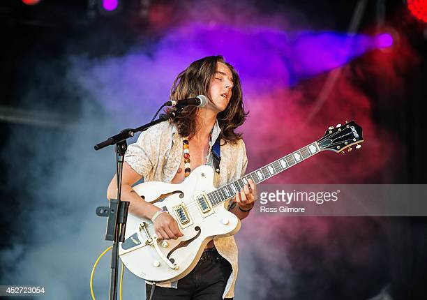 Rory FlemingStewart of Model Aeroplanes performs on stage at Wickerman Festival at Dundrennan on July 26 2014 in Dumfries United Kingdom