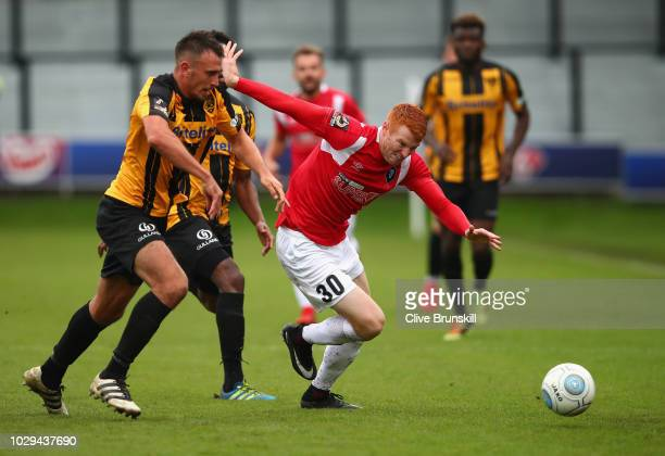 Rory Gaffney of Salford City in action during the Vanarama National League match between Salford City and Maidstone United at Moor Lane on September...