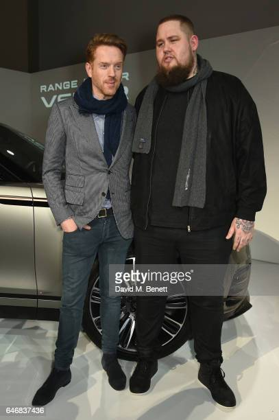 Rory Graham AKA Rag'n'Bone Man and Damian Lewis attend the world premiere launch of the new Range Rover Velar at Design Museum on March 1 2017 in...