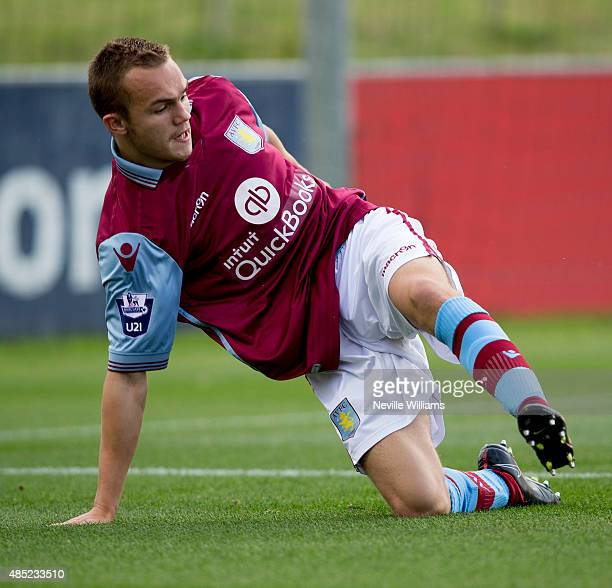 Rory Hale of Aston Villa during the U21 Premier League match between Derby County and Aston Villa at St Georges Park on August 17 2015 in Burton on...