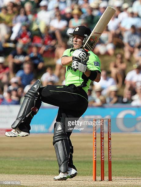 Rory Hamilton-Brown of Surrey plays a pull shot during the Friends Provident T20 match between Sussex and Surrey at Arundel Castle on July 11, 2010...