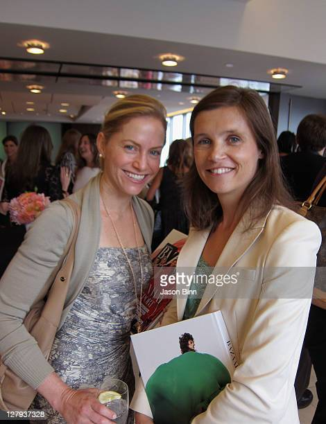 Rory Hermelee and Annette Berthod pose as Thomson Reuters hosts a luncheon honoring Glenda Bailey editorinchief of Harper's BAZAAR and the...