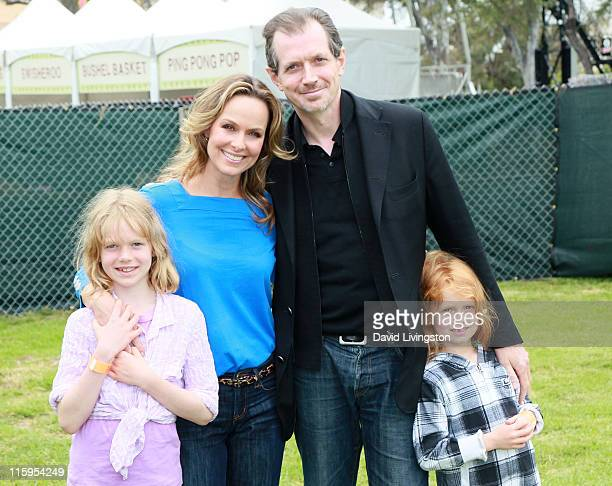 Rory Jackson actress Melora Hardin actor Gildart Jackson and Piper Quincey Jackson attend the Elizabeth Glaser Pediatric AIDS Foundation's A Time For...