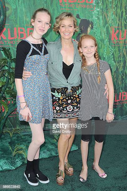 Rory Jackson Melora Hardin and Piper Quincey Jackson attend the Kubo and the Two Strings World Premiere at AMC Universal City Walk on August 14 2016...