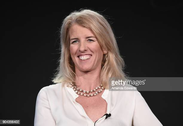 Rory Kennedy director/producer/narrator from 'Above and Beyond NASA's Journey to Tomorrow' onstage during the Discovery Channel portion of the...